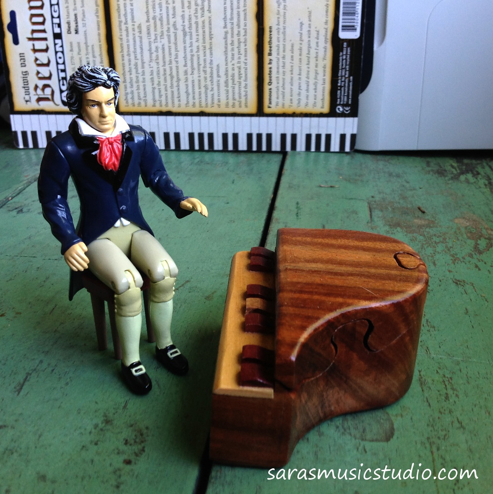 Beethoven practicing