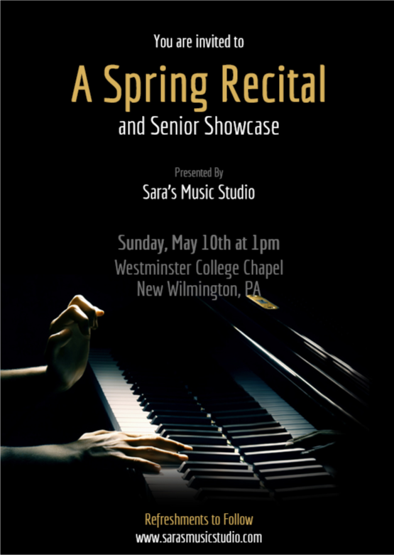 The 2015 Spring Recital Is Just Around Corner Please Join Us At Westminster College Chapel On Sunday May 10th Mothers Day 1pm For A